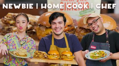 What Vegetarian Meat Dishes Can a Newbie, Home Cook, and Chef Make? (Aiyana, Erwan, and Martin)