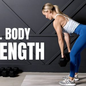 Total Body STRENGTH Workout // Dumbbells Only